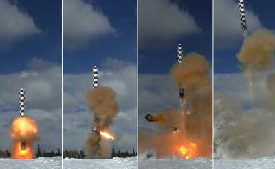 Test nowej rosyjskiej rakiety Sarmat