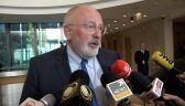 Timmermans: chodzi o niezawisłość sądów i rządy prawa