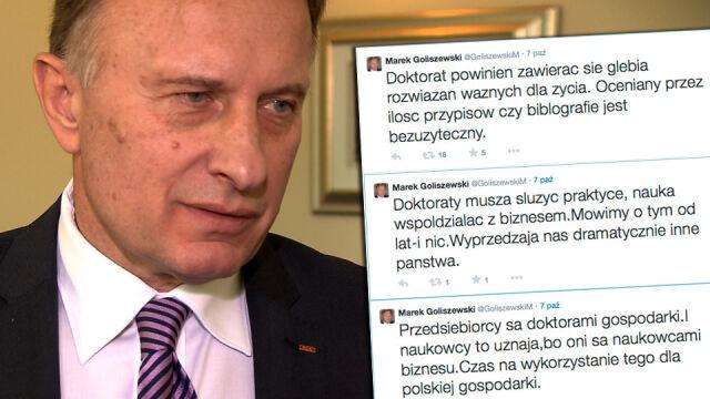 46 profesorów wertuje doktorat Marka Goliszewskiego