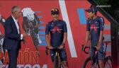 Carapaz i Bernal podczas prezentacji przed Vuelta a Espana 2021