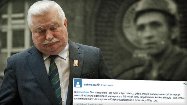 """""""Zdradziliście mnie, nie ja Was"""". Lech Wałęsa o odtajnieniu akt Kiszczaka"""