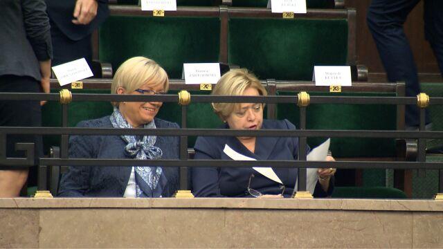 Gersdorf i Przyłębska razem na orędziu prezydenta