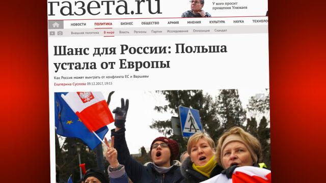 Rosyjskie media: Polska rozczarowała się Zachodem. To szansa dla Rosji