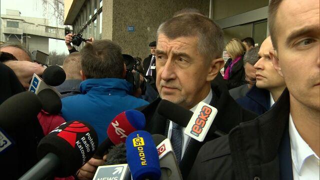 Premier Czech na miejscu tragedii w Karwinie