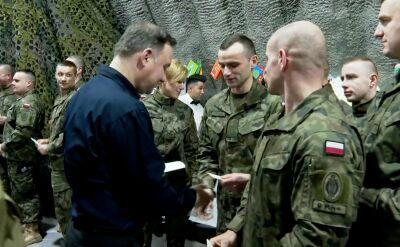 Andrzej Duda podzielił się z żołnierzami opłatkiem