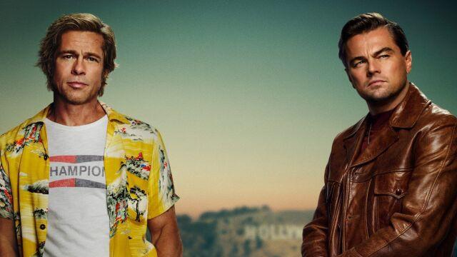 Leonardo DiCaprio i Brad Pitt na plakacie promującym film z udziałem Polaka
