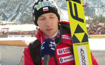 Stefan Hula po kwalifikacjach w Planicy