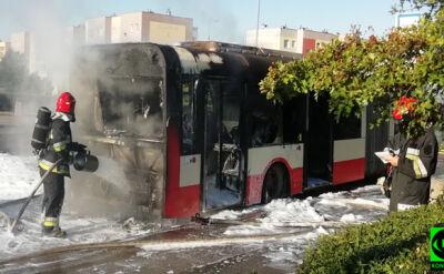 Autobus miejski w ogniu