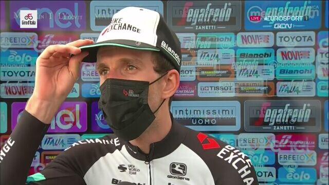 Simon Yates po zwycięstwie na 19. etapie Giro d'Italia