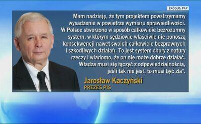 Kaczyński: chcemy powstrzymać wysadzenie w powietrze wymiaru sprawiedliwości