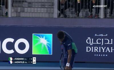 Tweener i serw od dołu. Show Fogniniego i Monfilsa w Diriyah Tennis Cup