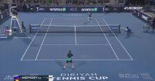 Miedwiediew łatwo ograł Goffina w półfinale Diriyah Tennis Cup