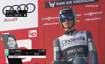 Domen Prevc wygrał zawody w Vikersund