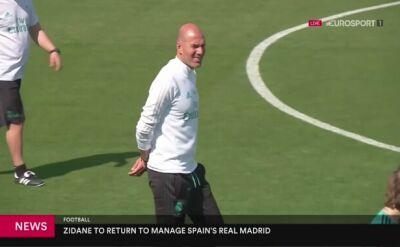 Zidane ponownie został trenerem Realu Madryt