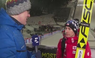 Kamil Stoch po konkursie w Lillehammer
