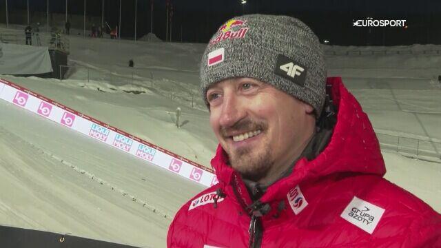 Adam Małysz po kwalifikacjach w Trondheim