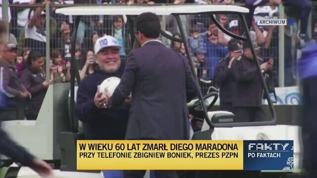 Zbigniew Boniek po śmierci Diego Maradony