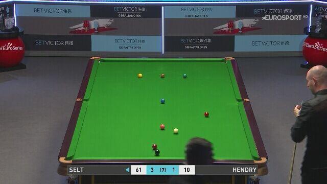 Matthew Selt pokonał Stephena Hendry'ego w meczu 1. rundy Gibraltar Open