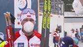 Dominik Bury po biegu na 15 km techniką dowolną