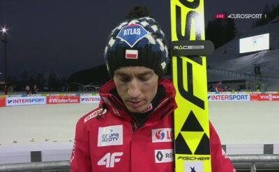 Kamil Stoch po kwalifikacjach na skoczni normalnej