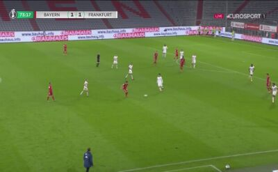 Puchar Niemiec. Eintracht - Bayern. Gol Robert Lewandowski (2:1)