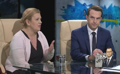 Elżbieta Jakubiak i Adam Szłapka w Tak Jest