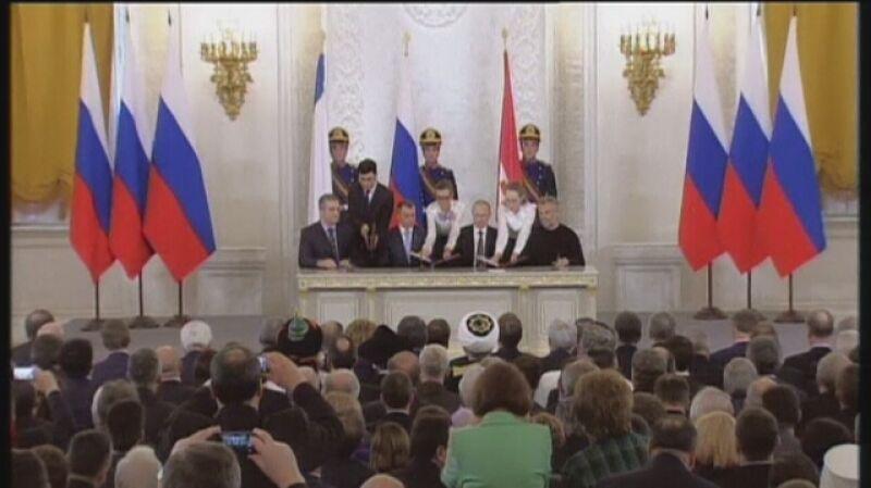Podpisanie umowy o aneksji Krymu