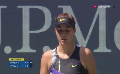 Belinda Bencic pokonała Donnę Vekic w ćwierćfinale US Open