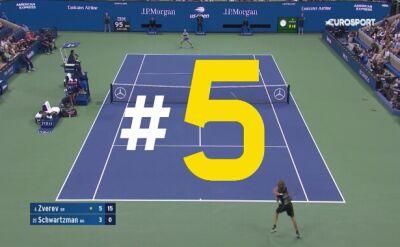 Najlepsze zagrania ósmego dnia US Open