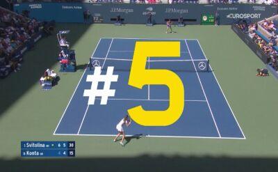 5 najlepszych akcji 9. dnia US Open