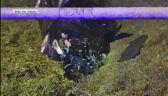 Wypadek w Jastrzębiu-Zdroju. Samochód wjechał w gazociąg.