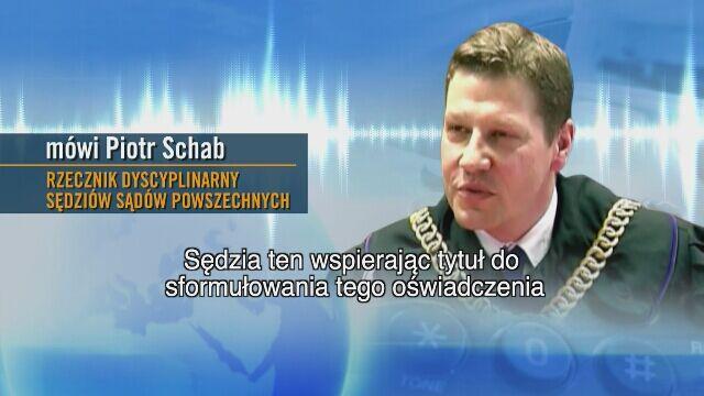 Rzecznik dyscyplinarny Piotr Schab o decyzji Krystiana Markiewicza