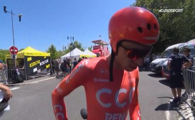Łukasz Wiśniowski po 13. etapie Tour de France