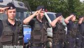 Policjanci zabezpieczający Pol'and'Rock Festival w hołdzie Powstańcom
