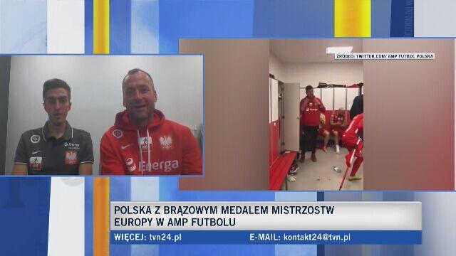 Polacy o świętowaniu brązowego medalu ME w amp futbolu