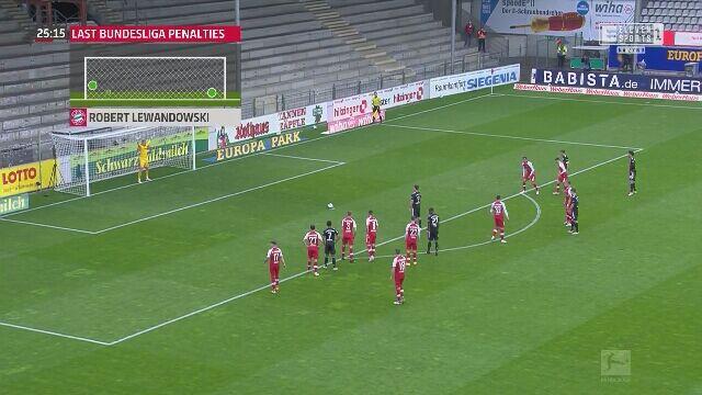 Gol Lewandowskiego przeciwko Freiburgowi