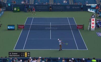 Skrót meczu Zverev - Kecmanović w drugiej rundzie turnieju ATP w Cincinnati