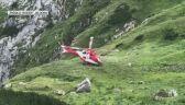 Lądowanie helikoptera TOPR w pobliżu jaskini