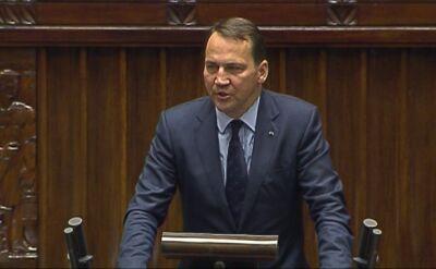 Sikorski o głównych celach polskiej dyplomacji