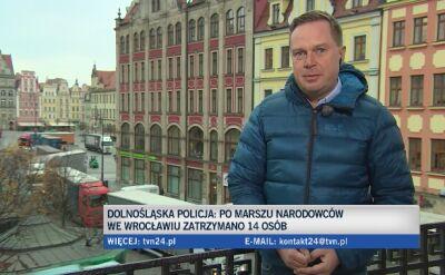 Marsz narodowców we Wrocławiu rozwiązany
