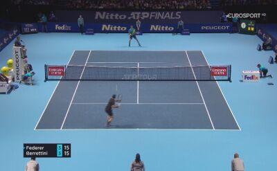 Federer pokonał Berettiniego na finałach ATP