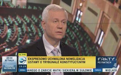 Marek Jurek o rozwiązaniu konfliktu wokół Trybunału Konstytucyjnego
