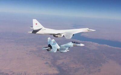 Rosyjskie naloty. Su-30 eskortują Tu-160
