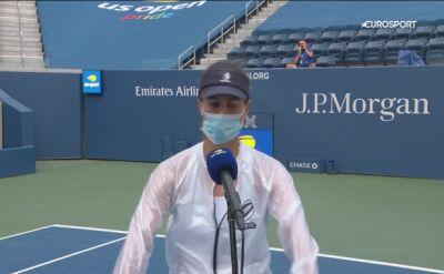 Pełen emocji wywiad Pironkowej po awansie do ćwierćfinału US Open