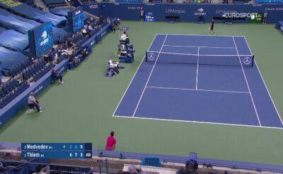 Długa wymiana i punkt na przełamanie dla Dominika Thiema w półfinale US Open