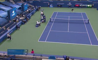Pierwszy wygrany break point dla Thiema w półfinałowym meczu z Miedwiediewem