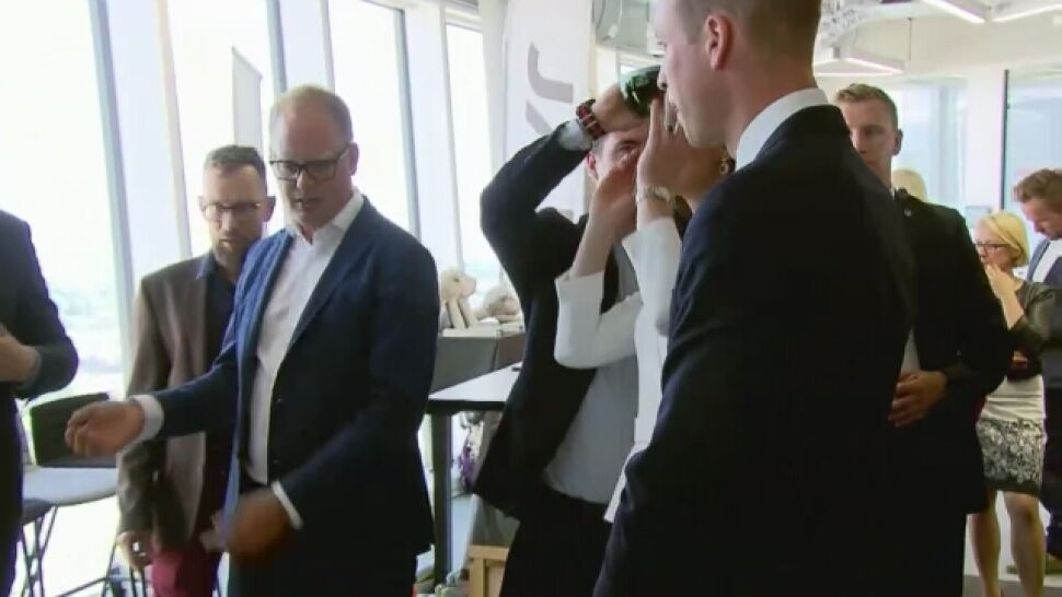The royal couple met with young entrepreneurs