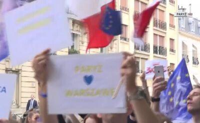 Protesty przeciwko zmianom w sądownictwie w Paryżu