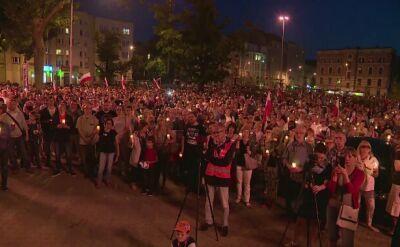 Protest w Łodzi