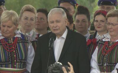 Jarosław Kaczyński podczas spotkania w Miedznej Murowanej